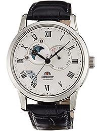 Orient self-winding Classic automática en el extranjero modelo Domestic fabricantes Guaranteed Sun & Moon Blanco Hombres Reloj set0t002s0