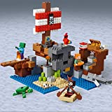LEGO- L'Aventure du Bateau Pirate Minecraft Jeux de Construction, 21152, Multicolore