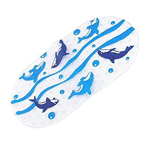 Rutschfeste Badematte,Stillshine Antirutsch Badematte für Kinder PVC Karikatur Entwurf Massage Dusche Badematte mit Saugnäpfen für Baby (Delphine) Dusche Massage Gold
