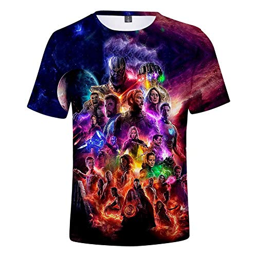 T-Shirt Unisex 3D Superheld gedenken Cosplay Kostüm Shirt - Superheld Shirt Casual T-Shirts - Shirt gedenken Vater von Marvel Geschenk für Marvel-Fans Super Soft Cotton T-Shirt