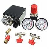 Doradus Compresseur d'air commutateur soupape de pression jauges de 180psi régulateur de commande de la pompe