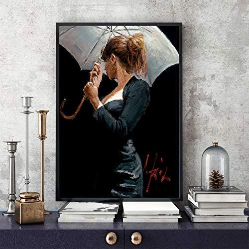 adgkitb canvas 30x45cm KEIN FrameBlack Anzug Mann Wand Art Deco Gemälde a3 (Schokolade Ballerinas)