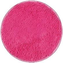 FAMILIZO Inicio Tienda Alfombras Espesas Alfombras Circulares Comedor Dormitorio Alfombra Alfombra Decoraciones (Rosa caliente)