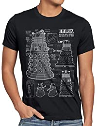 style3 Dalek Blaupause Herren T-Shirt who time police doctor box space dr tv