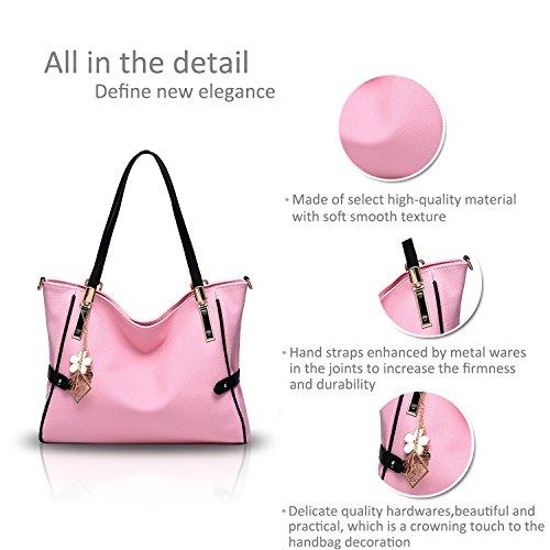NICOLE&DORIS nuova borsa della donna di marea borse atteggiamento freddo spalla Messenger Bag moda atmosferico mano(Pink) rosa