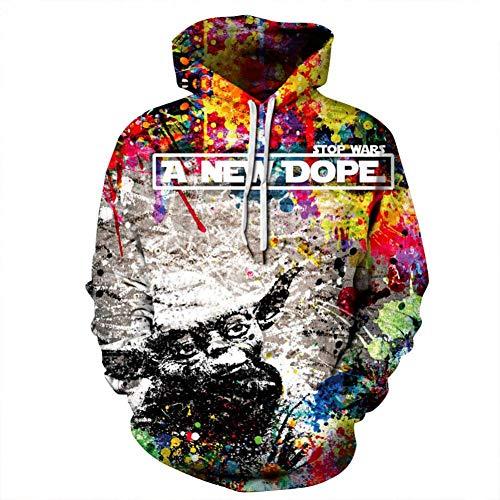 JUWBCHD Graffiti Bunte Farbe 3D Hoodies Sweatshirts Tie-Dye Hip Hop Hoodie Männer Frauen Streetwear Paar Kleidung - Für Tie-dye-sweatshirt Frauen