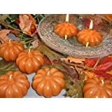 My Party Suppliers Tea Light Wax Candle (Orange_Pumpkin_Set Of 3 )