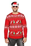 Wilbers Weihnachtspullover Rentier Ugly Christmas Sweater rot Pullover Weihnachten M