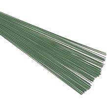 Alambre verde para floristas (0,9mm), de color verde, diámetro de 20swg x 19cm/19,7 cm, 88 g, 100 unidades aproximadamente Ideal para las personas que hacen manualidades.