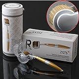 ZGTS - Rodillo dermoabrasivo con micro agujas de titanio para el cuidado de la piel, antienvejecimiento, para la eliminación del acné, celulitis, arrugas, estrías y mejorar el crecimiento del cabello y la circulación de la sangre