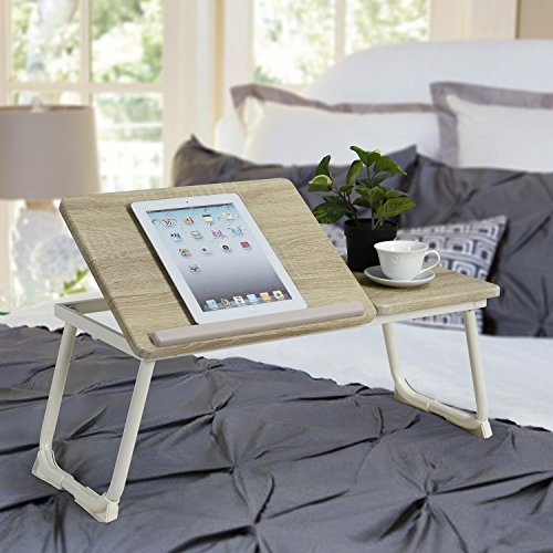 Folding Laptop table Coavas Portable Small Laptop Sturdy Desk Computer Notebook Breakfast Bed Tray