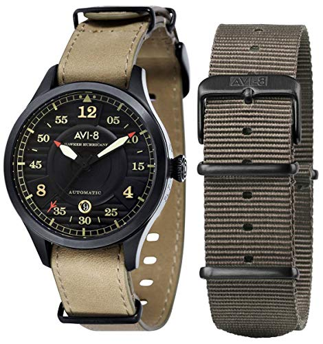 Montre Homme - AVI-8 - HAWKER HURRICANE - Automatique - 2 bracelets - 43mm - AV-4046-03