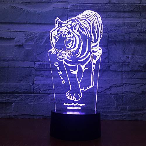orangeww 3D Tiger FÜHRTE Bär Visuelle lampe 7 Farben Schwein Sea Turtle Nachtlicht Wohnkultur Schlafzimmer Nacht Lampara Leuchte Kreative geschenke