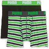 Puma Jungen Basic Boxer Printed Stripe 2p Boxershorts,grün(Classic Green),128 (Herstellergröße: 7-8 Jahre)