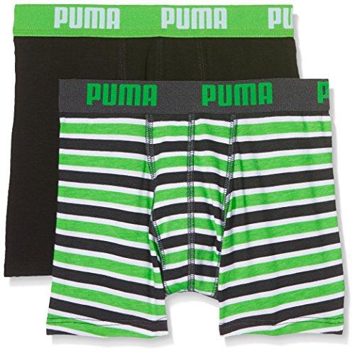 Puma Jungen Basic Boxer Printed Stripe 2p Boxershorts,grün( Classic Green),152 (Herstellergröße: 11-12 Jahre )