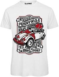 CHEMAGLIETTE! T-Shirt Divertente Uomo Maglietta con Stampa Vintage Film Horror Pennywise Tuned