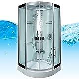AcquaVapore DTP8058-6002 Dusche Dampfdusche Duschtempel Duschkabine 100×100 XL, EasyClean Versiegelung der Scheiben:2K Scheiben Versiegelung +89.-EUR - 2