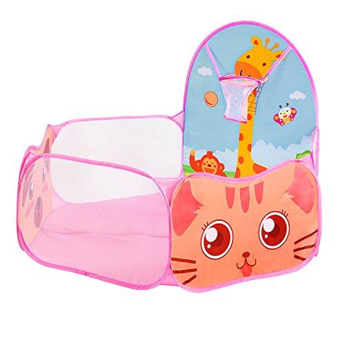 battop-tente-portable-piscine-a-balles-pour-enfants-piscine-avec-basket-ball-mini-rose-sans-boules