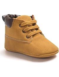 Tonsee Bébé Toddler garçon fille Soft Sole PU cuir Antislip premières chaussures marcheurs