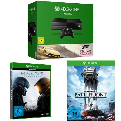 Xbox One 500GB Forza Horizon 2 + Halo 5: Guardians + Star Wars Battlefront (Forza Horizon 5)