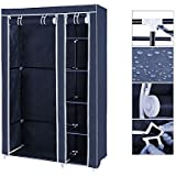 GTC Fancy And Portable Fold Able Closet Wardrobe Cabinet Portable Multipurpose Clothes Closet Portable Wardrobe Storage Organizer With 6 Shelves 175*110*45 CM ( H*L*B ) Folding Wardrobe Cupboard Almirah Fold Able Storage Rack Collapsible Cabinet ( Need To