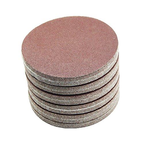 150 mm red Exzenter Schleifscheiben Sortiment SET 100 Scheiben P800 P600 P400 P320 P240 , ohne Loch...