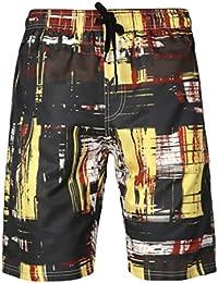 YuanDiann Homme Grande Taille Impression Shorts De Plage été Casual  Boardshorts Séchage Rapide Taille élastique Cordon Natation Surf Maillots… 546dca0fec4