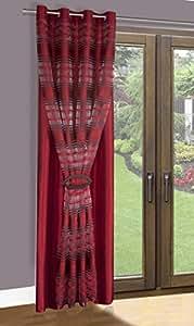 140x245 bordeaux weinrot burgunderrot ZWEISEITIG Vorhang Vorhänge Gardine Ösenschal wine-red burgundy-red 2110
