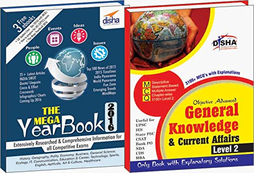 Objective General Knowledge & Current Affairs (Yearbook + 3100 MCQs) Level 2 for UPSC/ IES/ State PCS/ CSAT/ Bank PO/ NDA/ CDS/ MBA Exams