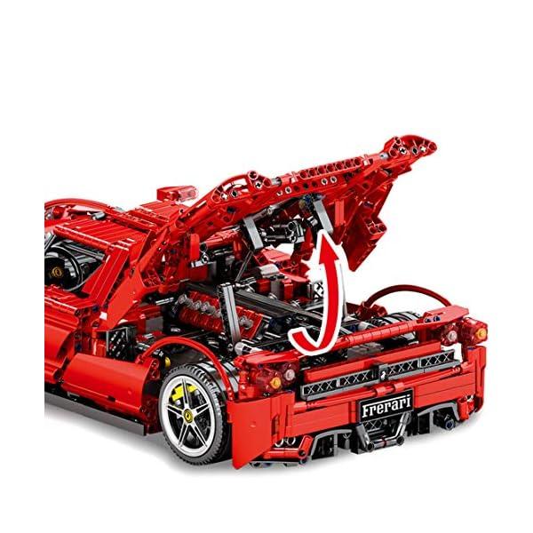 Tosbess Technic Auto Sportiva Ferrari Enzo, 2,4Ghz RC 1:10 Auto con Motore e Telecomando, 2615 Pezzi Blocchetti di… 5 spesavip
