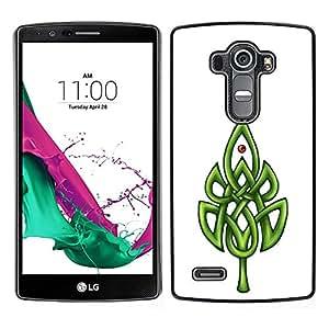 Stuss Case / Hart Case Cover Handy Schutz Hülle Etui - Celtic Pattern Weiß Minimalist reinigen - LG G4
