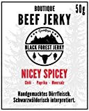 Black Forest Jerky - Nicey Spicey (3er Pack, 3x50g) - Premium Beef Jerky vom Deutschen Weiderind