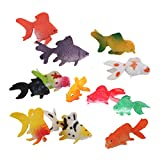 Lot de 12pcs Mini Poisson Rouge en Plastique Figurine Miniature ...