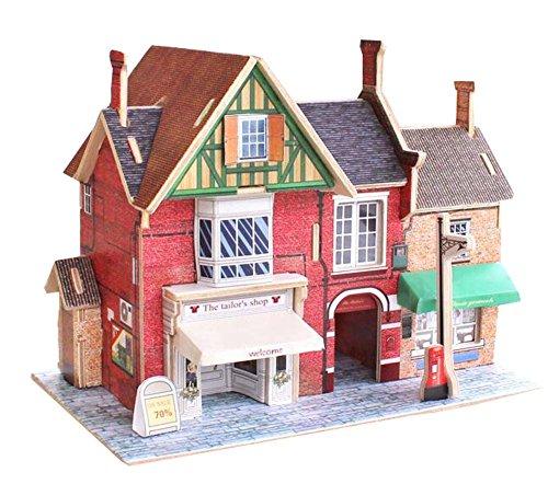 [British Clothing Store] 3D-Puzzle-Papier-Modell Zusammengebaute Kabine Haus Spielzeug Diy (Haus Kabine)