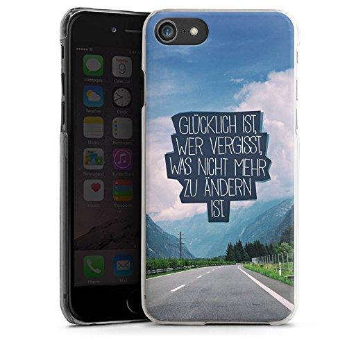 Apple iPhone X Silikon Hülle Case Schutzhülle Glück Sprüche Statement Hard Case transparent