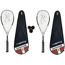 Browning Platinum Nano 110-Racchetta da Squash con 3 palline da Squash Dunlop