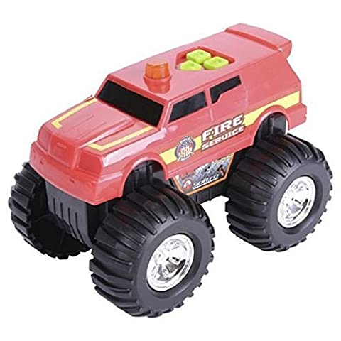 Motorised Red Fire Service Truck / Engine/ - Features lights & sounds- Batteries Included