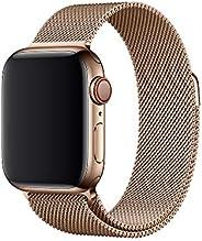 Compatible with Apple Watch Bands 38mm 40mm 42mm 44mm, Adjustable Stainless Steel Metal Mesh Loop Bracelet Wri