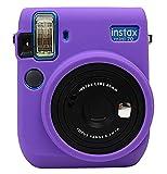 Protector de silicona gel caucho suave cámara funda de la bolsa para Fujifilm Fuji Instax mini 70 cámara púrpura