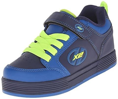 Heelys X2 Thunder, Chaussures Garçon, Bleu (Navy / Royal / Neon Yellow), 35 EU