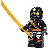 LEGO Ninjago Minifigura - Cole (ninja negro) con katana de oro