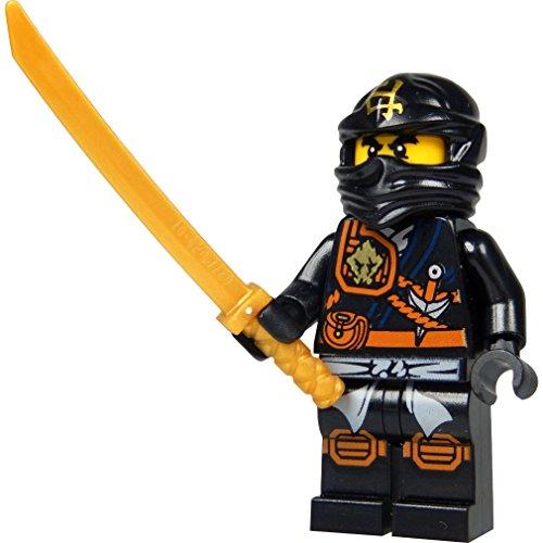 LEGO Ninjago: Minifigur Cole (schwarzer Ninja) mit Katana (Schwert) NEUHEIT 2015