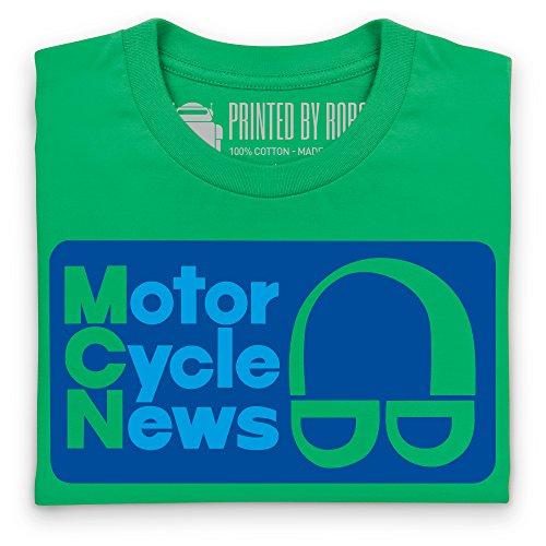 Motor Cycle News Retro Logo T-Shirt, Damen Keltisch-Grn