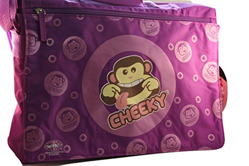 Withit , Sac bandoulière pour femme L Cheeky Monkey Purple