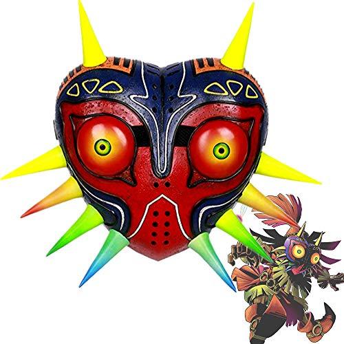 Mesky Majoras Halloween Mask Cosplay Maske aus Natürlichem Latex und Harz Game Kostüm Zubehör Einstellbarer Verschluss Ideal für Karneval, Party und Fasching Weich Bequem mit - Majora's Mask Kostüm