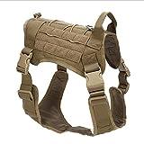 ZHENG Hundebekleidung in großen Hundekleidung Taktische Hundekleidung im Freien Taktische Weste getarnt Hundefeste,Brown,L