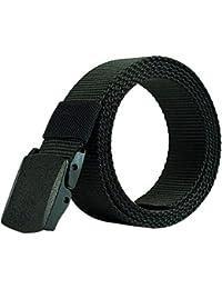 Nclon Cinturón Lona,Cinturón Elástico Cinturón De Lona Cinturón Hombre Transpirable Plástico Hebilla Nailon