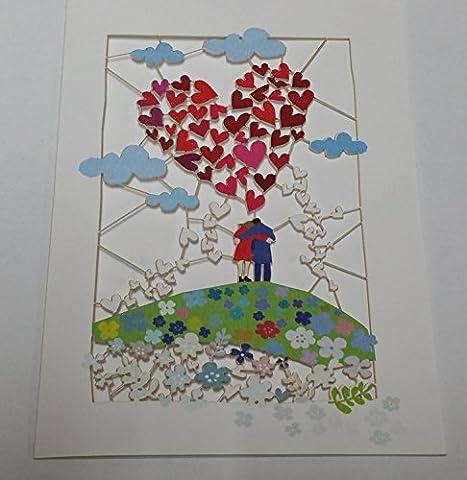 Fait à la main Laser Cut Cartes --- Amour --- présentée par Sterling Effectz
