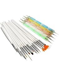 Mode Galerie Lot de 15 Brosses à Ongles Pinceaux Peinture 5pcs Dotting stylo Manucure Kit