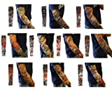 Bundle Monster 10pc Fake Temporary Tattoo Sleeves Body Art Arm Stockings Accessories - Designs Tribal, Dragon, Skull, and Etc.